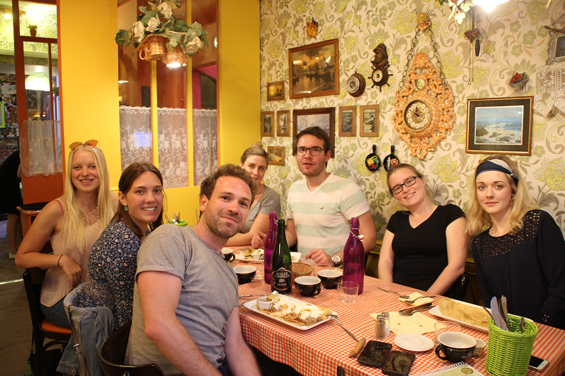 Our students at the Crêperie Mamie Bigoude in Tours